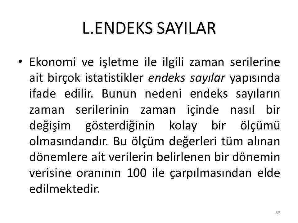 L.ENDEKS SAYILAR