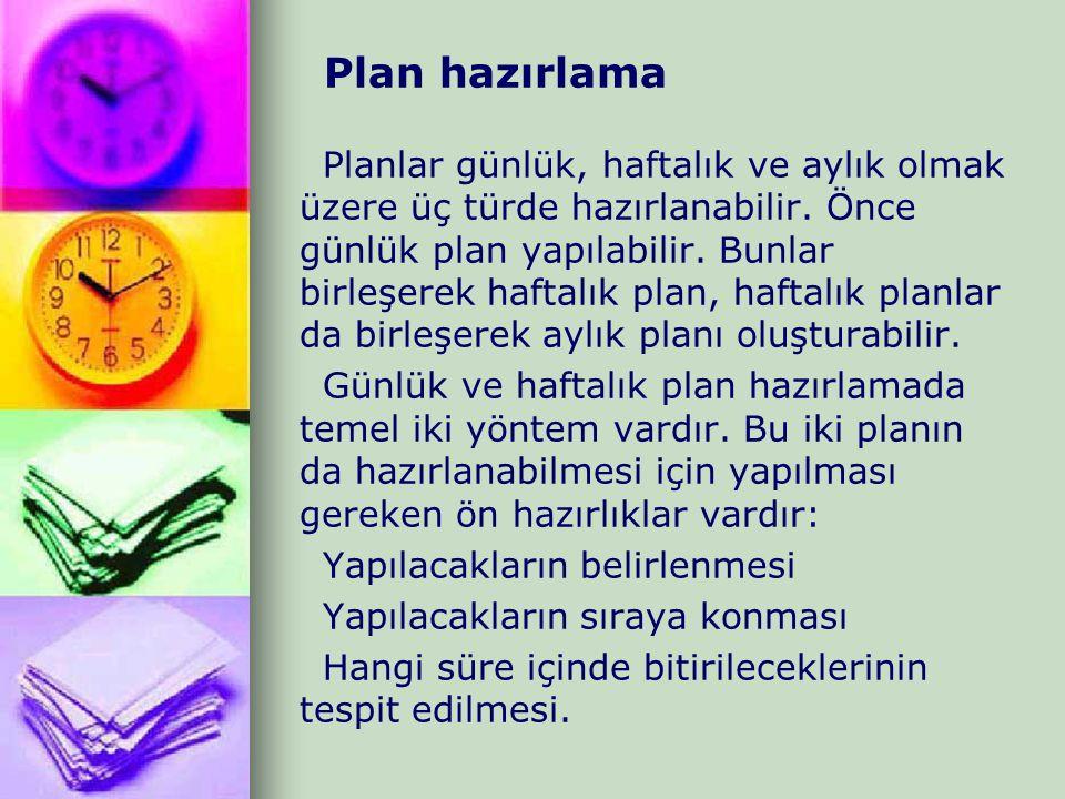 Plan hazırlama