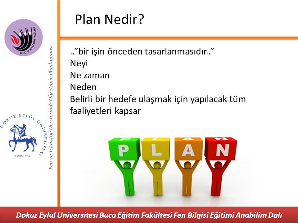 Plan Nedir .. bir işin önceden tasarlanmasıdır.. Neyi Ne zaman Neden