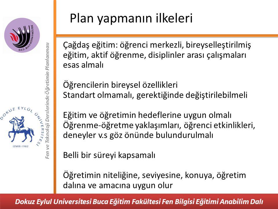 Plan yapmanın ilkeleri