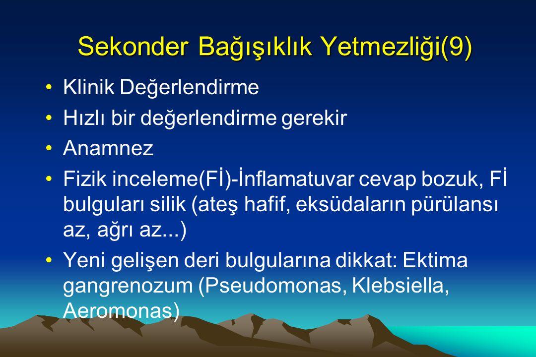Sekonder Bağışıklık Yetmezliği(9)
