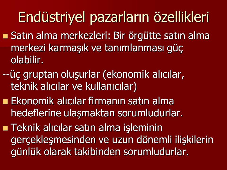 Endüstriyel pazarların özellikleri