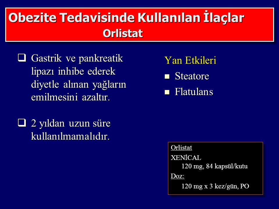 Obezite Tedavisinde Kullanılan İlaçlar Orlistat