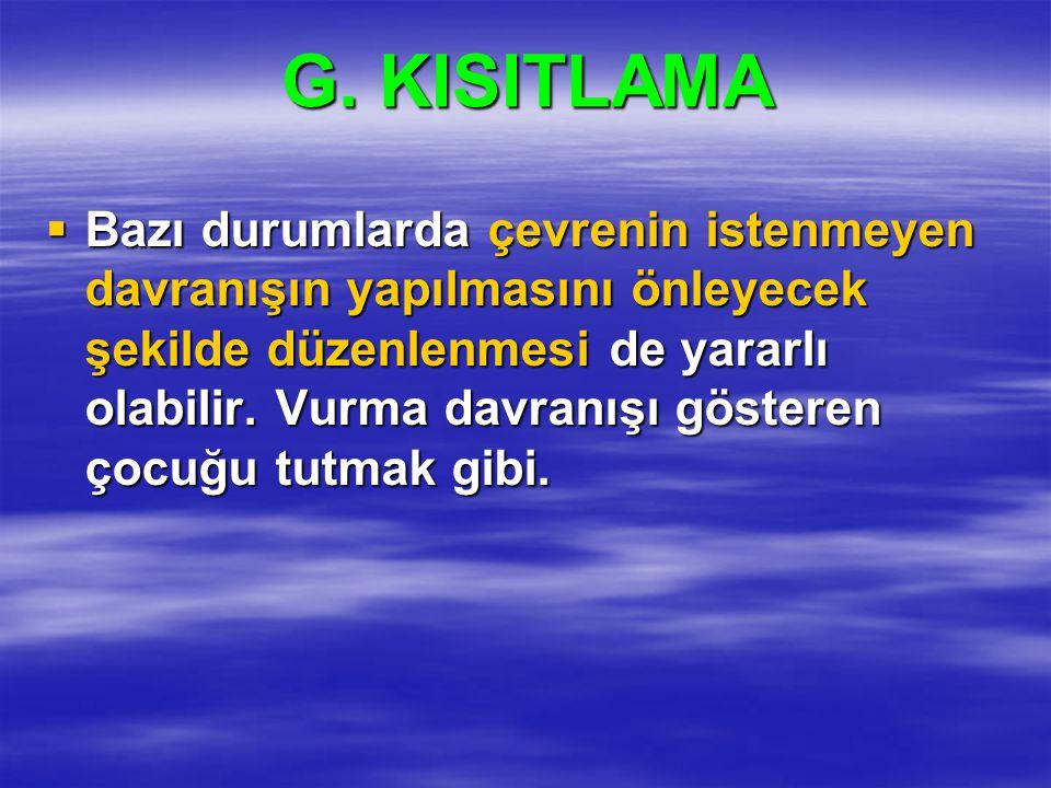 G. KISITLAMA