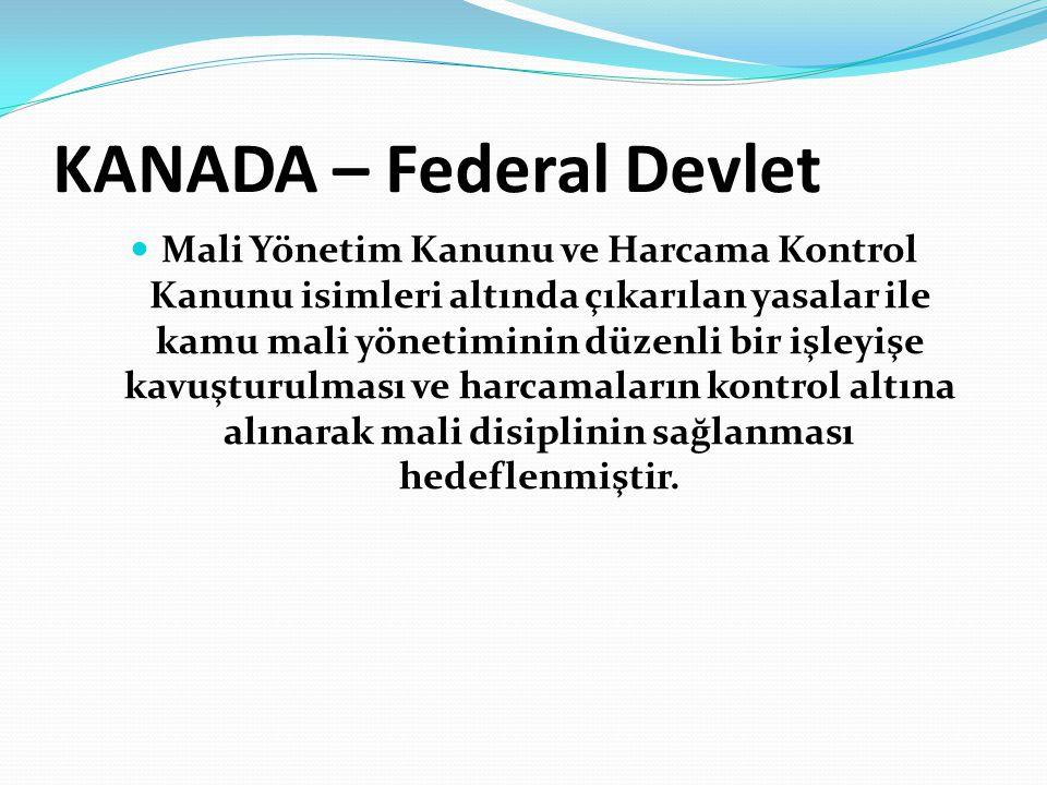 KANADA – Federal Devlet
