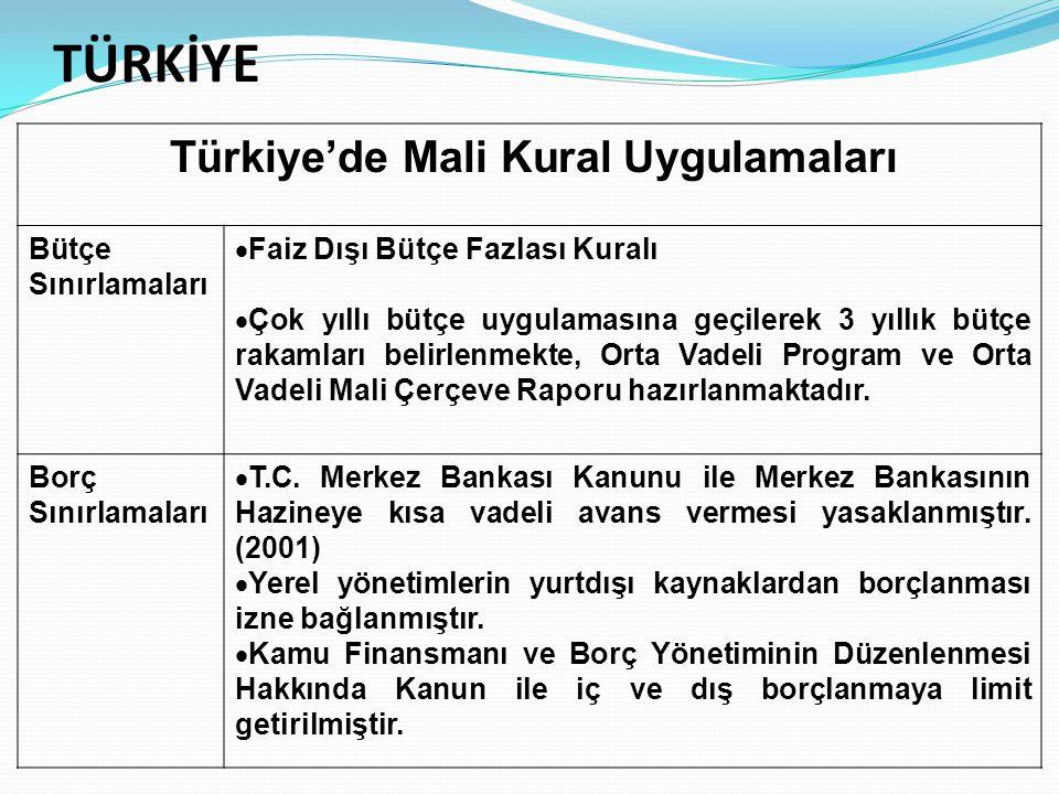 Türkiye'de Mali Kural Uygulamaları