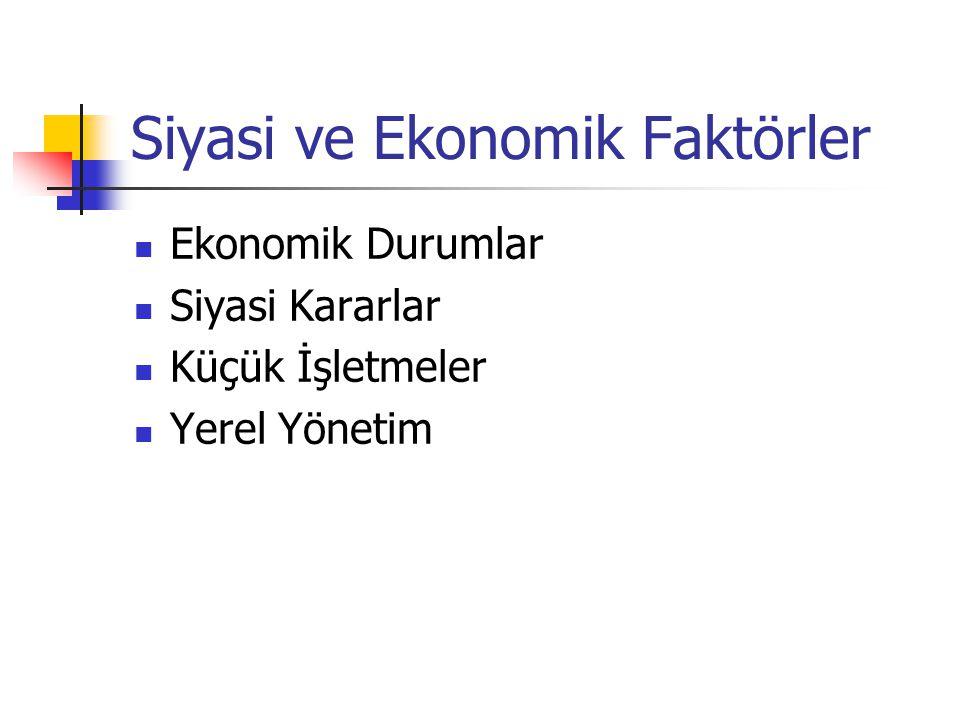 Siyasi ve Ekonomik Faktörler