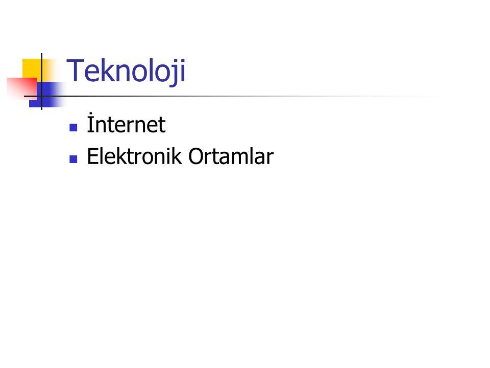 Teknoloji İnternet Elektronik Ortamlar