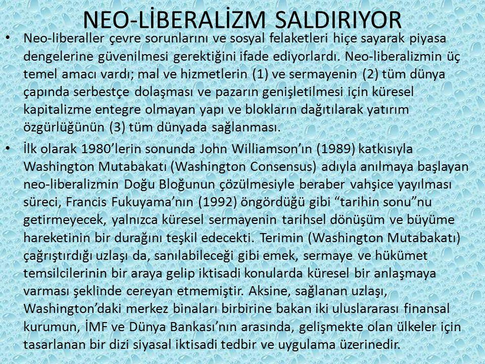 NEO-LİBERALİZM SALDIRIYOR