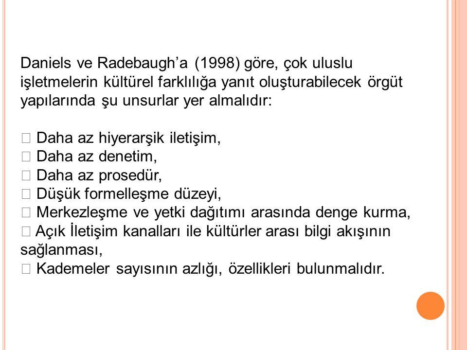 Daniels ve Radebaugh'a (1998) göre, çok uluslu