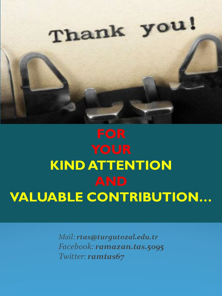 VALUABLE CONTRIBUTION…