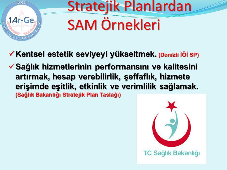 Stratejik Planlardan SAM Örnekleri