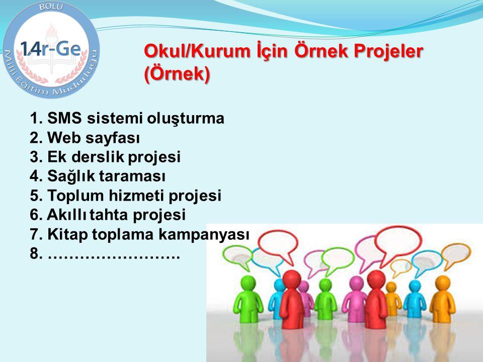 Okul/Kurum İçin Örnek Projeler (Örnek)