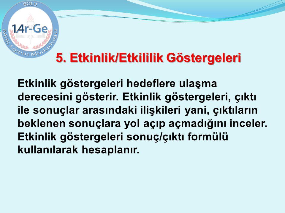 5. Etkinlik/Etkililik Göstergeleri