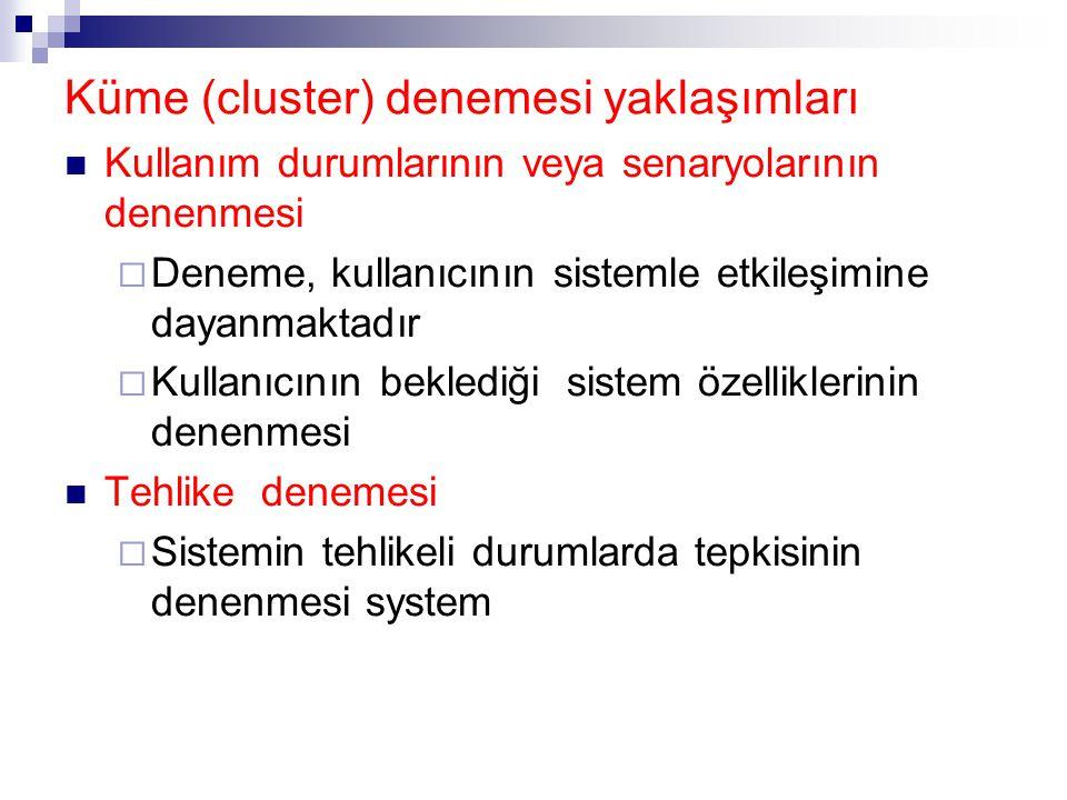 Küme (cluster) denemesi yaklaşımları