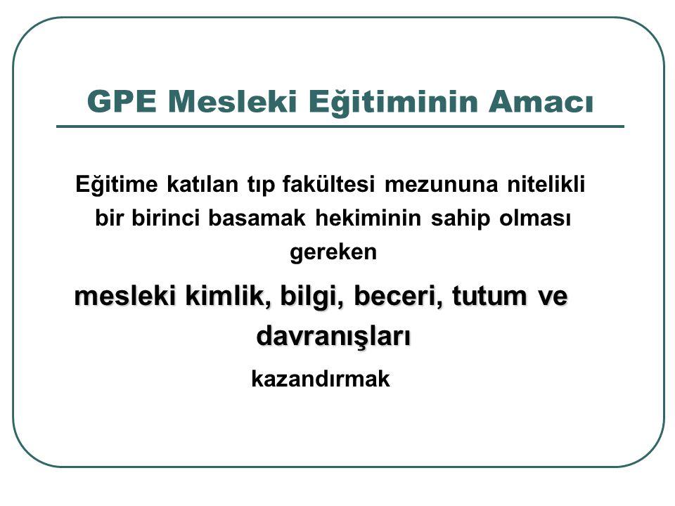 GPE Mesleki Eğitiminin Amacı