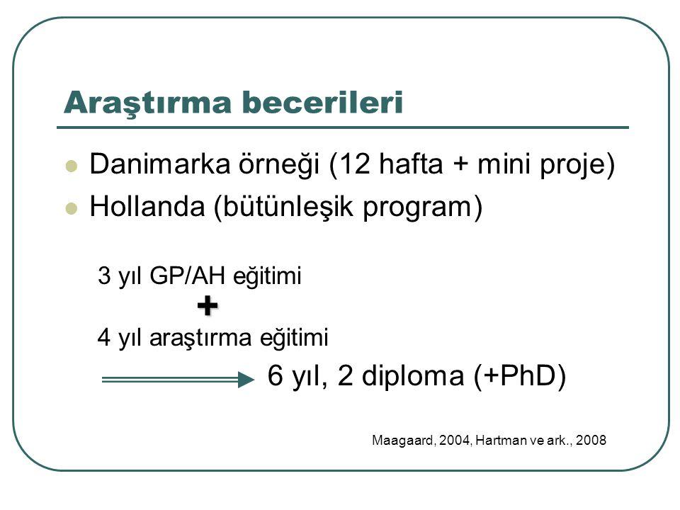 + Araştırma becerileri Danimarka örneği (12 hafta + mini proje)