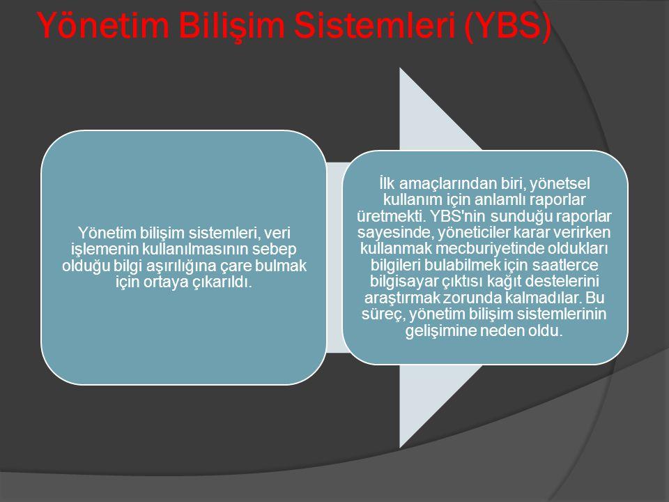 Yönetim Bilişim Sistemleri (YBS)