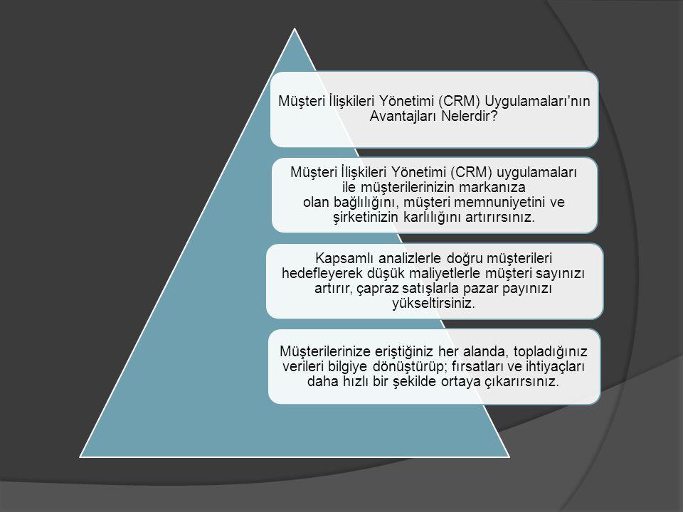 Müşteri İlişkileri Yönetimi (CRM) Uygulamaları nın Avantajları Nelerdir