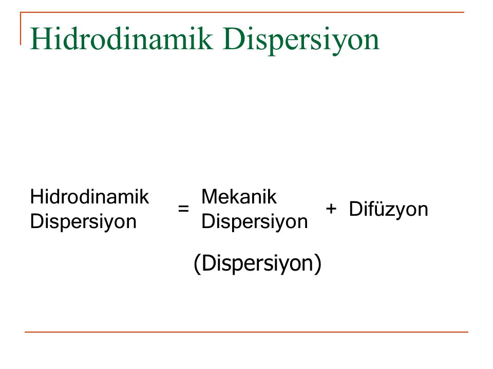 Hidrodinamik Dispersiyon