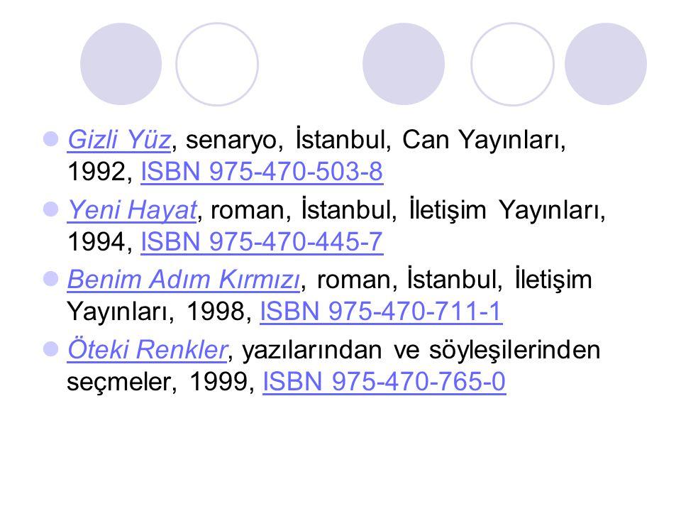 Gizli Yüz, senaryo, İstanbul, Can Yayınları, 1992, ISBN 975-470-503-8