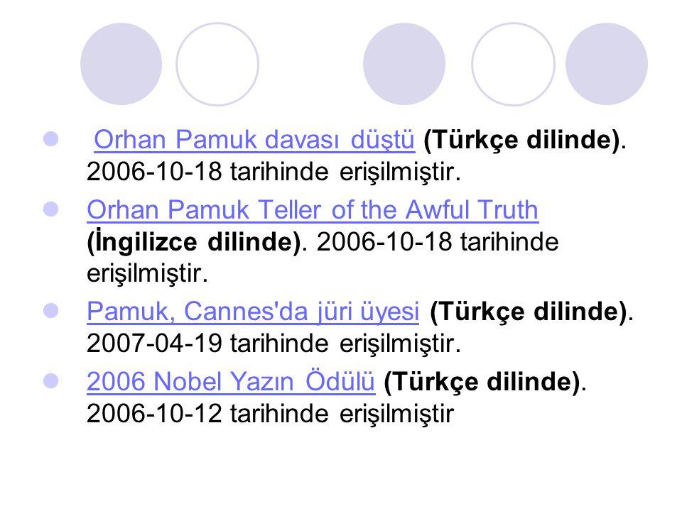 Orhan Pamuk davası düştü (Türkçe dilinde)