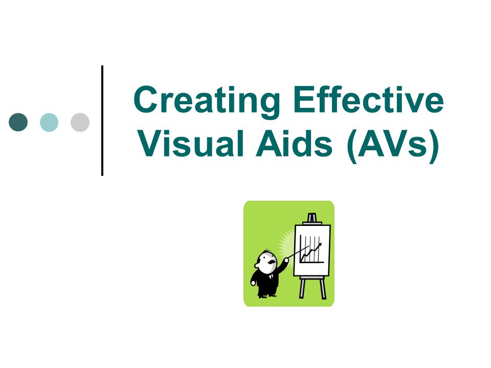 Creating Effective Visual Aids (AVs)