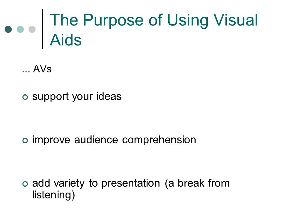 The Purpose of Using Visual Aids