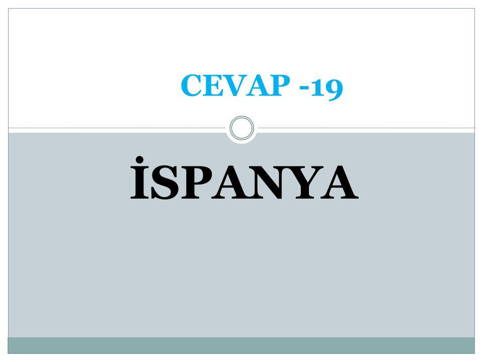 CEVAP -19 İSPANYA