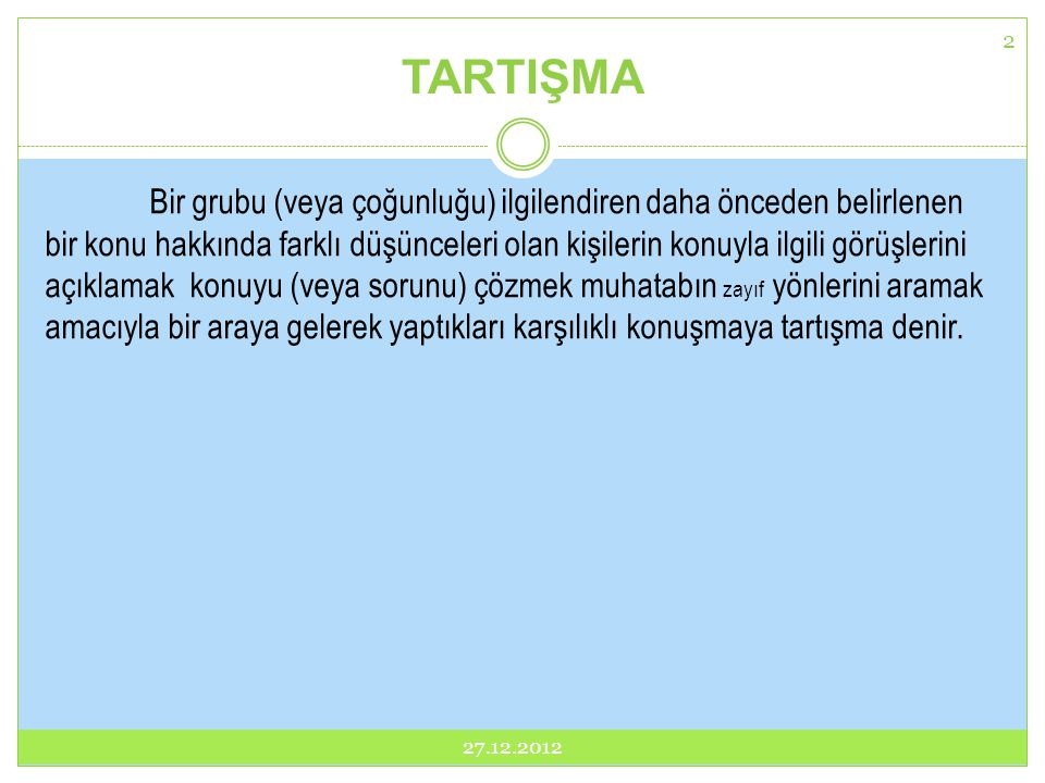 TARTIŞMA