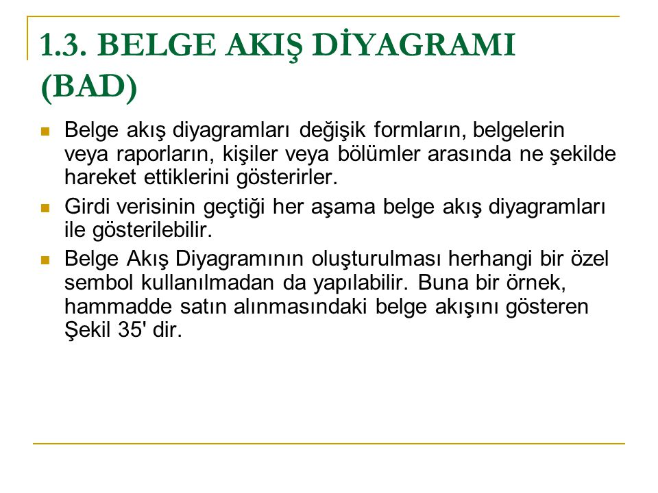 1.3. BELGE AKIŞ DİYAGRAMI (BAD)