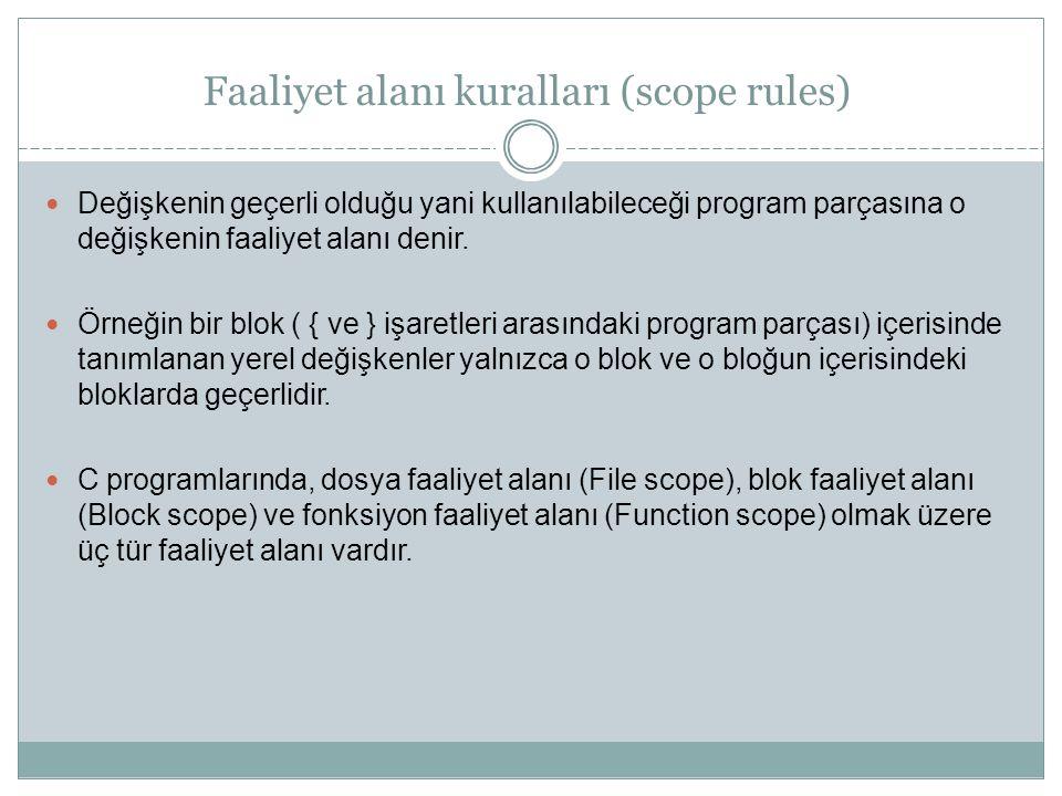Faaliyet alanı kuralları (scope rules)