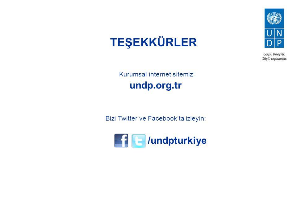 TEŞEKKÜRLER Kurumsal internet sitemiz: undp.org.tr / /undpturkiye