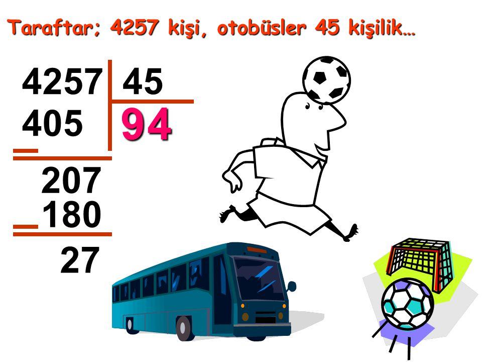 Taraftar; 4257 kişi, otobüsler 45 kişilik…