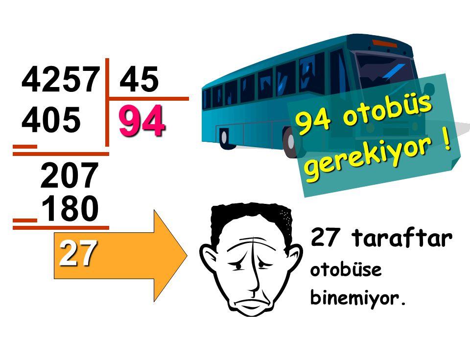94 otobüs gerekiyor ! 4257 45 94 405 207 180 27 taraftar otobüse binemiyor. 27
