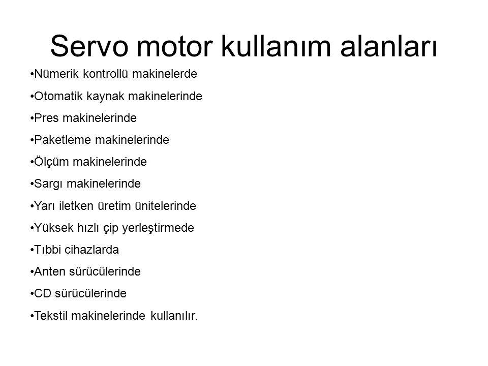 Servo motor kullanım alanları