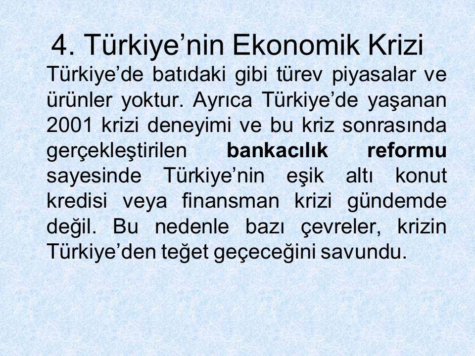 4. Türkiye'nin Ekonomik Krizi