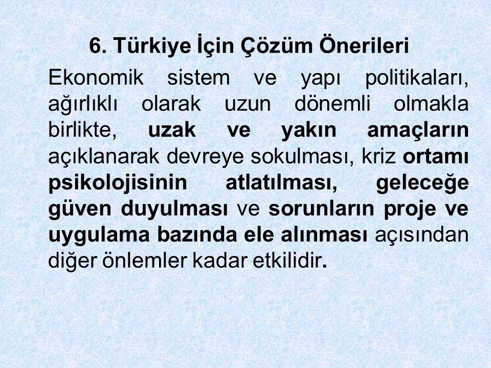 6. Türkiye İçin Çözüm Önerileri