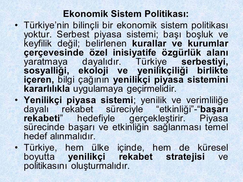 Ekonomik Sistem Politikası: