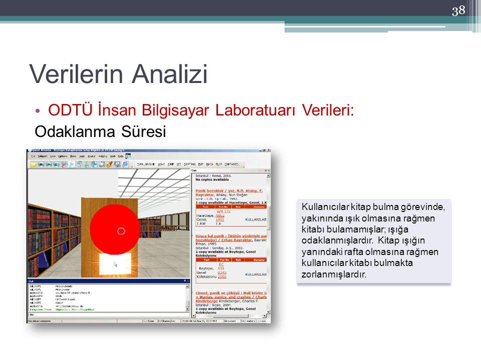 Verilerin Analizi ODTÜ İnsan Bilgisayar Laboratuarı Verileri: