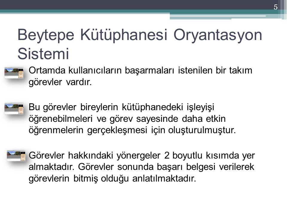 Beytepe Kütüphanesi Oryantasyon Sistemi