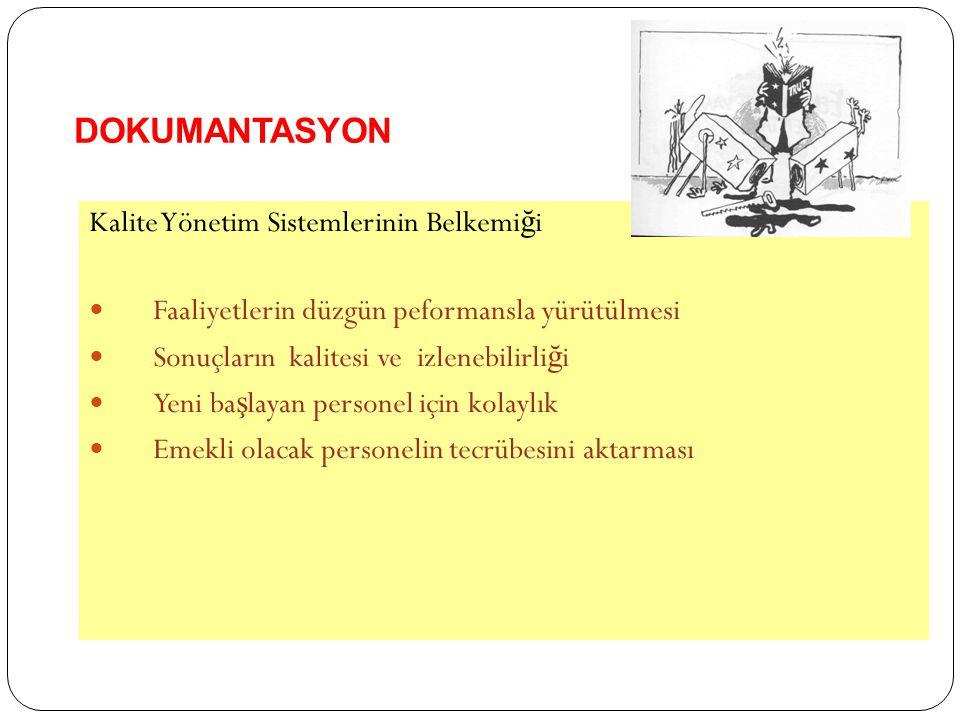 DOKUMANTASYON Kalite Yönetim Sistemlerinin Belkemiği