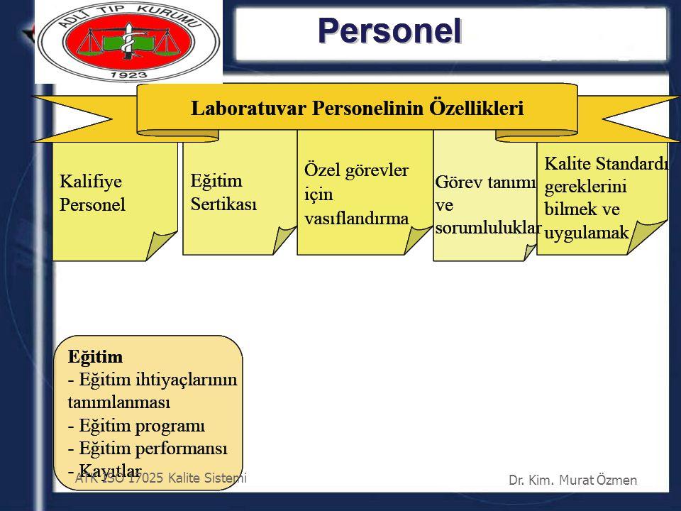ATK ISO 17025 Kalite Sistemi Dr. Kim. Murat Özmen 39