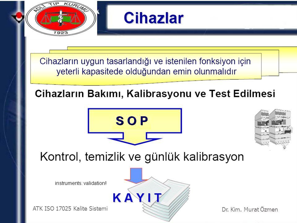 ATK ISO 17025 Kalite Sistemi Dr. Kim. Murat Özmen