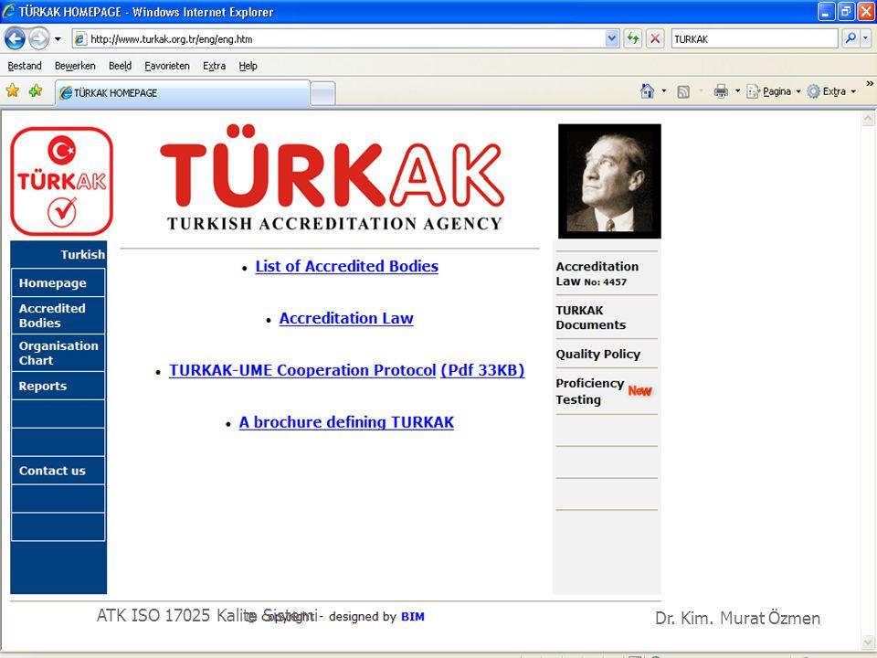 RvA ATK ISO 17025 Kalite Sistemi Dr. Kim. Murat Özmen 51