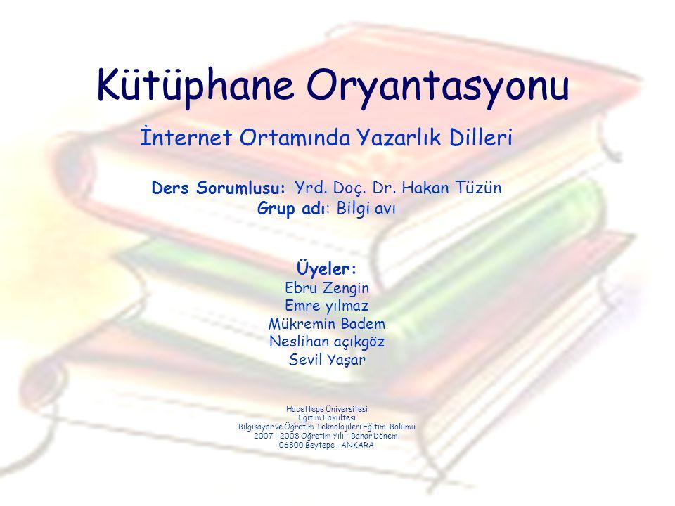 Kütüphane Oryantasyonu
