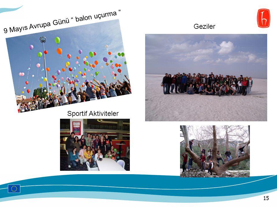 9 Mayıs Avrupa Günü balon uçurma