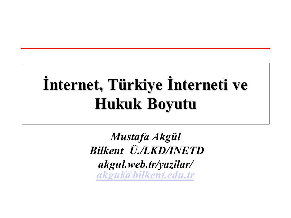 İnternet, Türkiye İnterneti ve Hukuk Boyutu