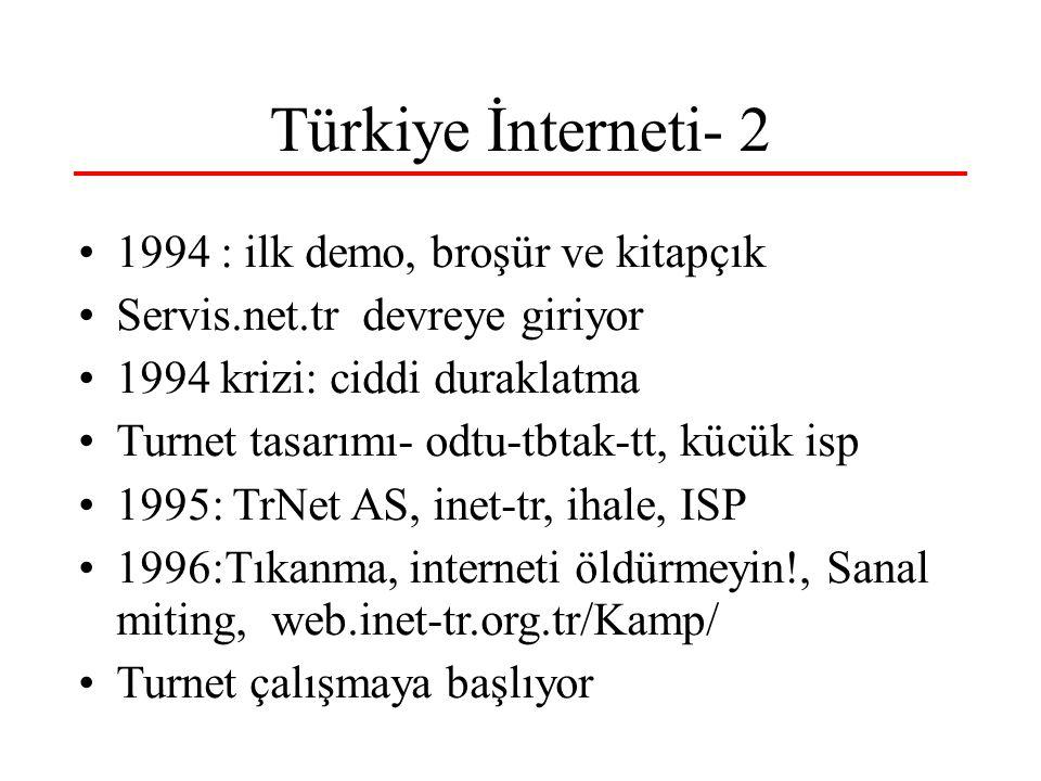 Türkiye İnterneti- 2 1994 : ilk demo, broşür ve kitapçık