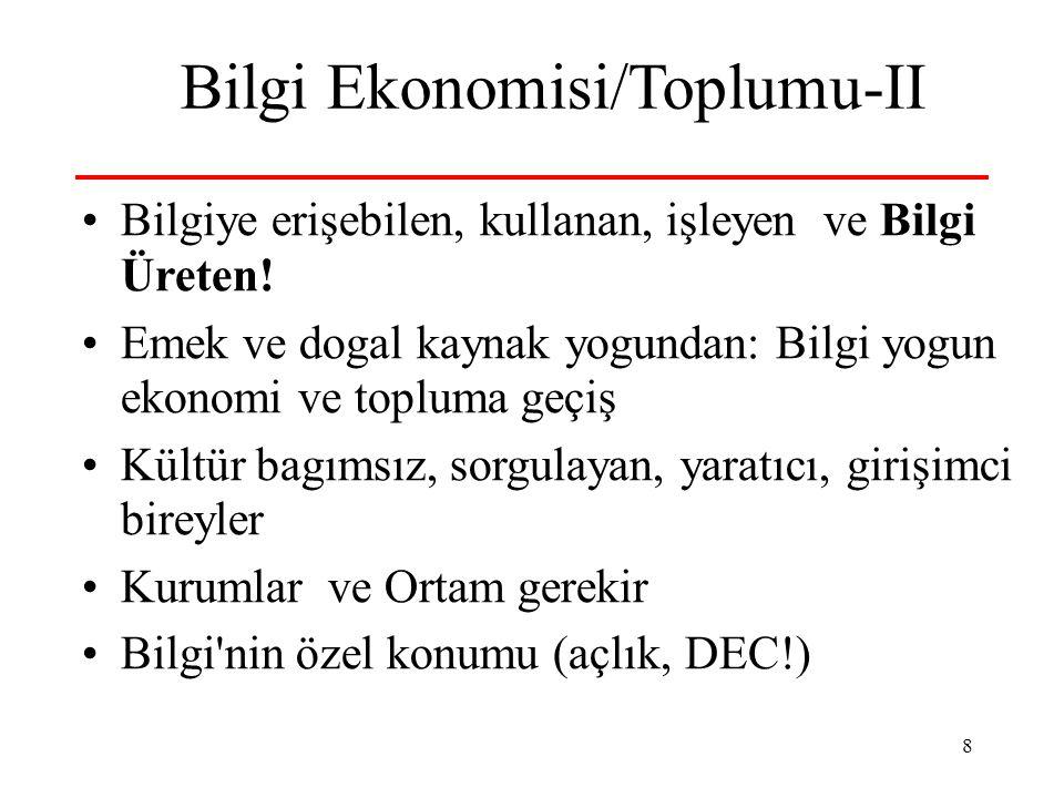 Bilgi Ekonomisi/Toplumu-II